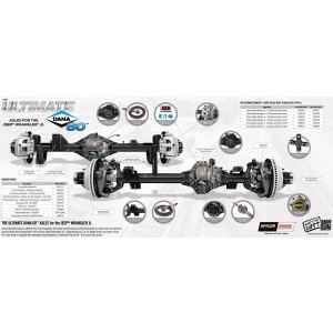 ULTIMATE DANA 60 CRATE AXLES (FRONT & REAR) JEEP JK 5.38 WITH ELECTRONIC LOCKER