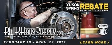 Yukon RWK Spring Rebate
